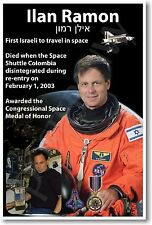 Astronaut Ilan Ramon - First Israeli in Space - NEW POSTER