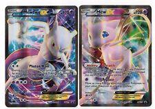 Pokemon MEW EX ( XY126 ) +  MEWTWO EX ( XY125 ) Super Premium EX Promo Cards