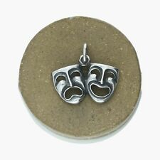 james avery / sterling silver retired comedy tragedy masks drama / charm (1.6g)