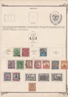 mexico stamps on 2 album page ref 13463
