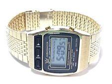 Vintage Ambassador  Gold Tone Digital Alarm Chronograph Mens Watch (AML-7781)