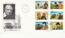 DOMINICA 25 NOVEMBER 1974 WINSTON CHURCHILL CENTENARY FIRST DAY COVER
