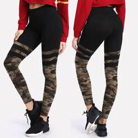 Fashion Womens Casual Camo Sport Yoga Fitness Leggings Slim Running Stretch Pant