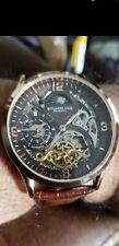 Stuhrling Original 45mm Legacy Automatic Leather Strap Wristwatch
