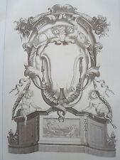 Motif décoration ANGES époque LOUIS XIV GRAVURE ADAMS MEUBLE XIXéme