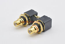 100 pcs  Hi End  PCB TYPE RCA Socket Copper with real gold plated  TAIWAN Made