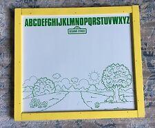 Vintage Sesame Street Double Sided Chalkboard / Dry Erase Magnetic Board