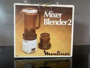 Vintage Moulinex Mixer Blender 2 Coffee Grinder 1970s 80s