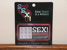 SEX! Scratch Tickets Naughty Scratchies Adult Couple Scratch Game, Free Shipping