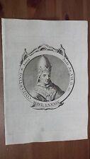 1775 Efigie de Papa Constantino I Pontífice (Costantino Siria Grabado Original)