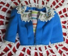 Vintage 1960's Barbie in Holland Blue Snap Bodice Top Doll Accessory