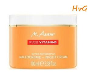 M. Asam PURE VITAMINS Super Antioxidant Nachtcreme XXL 100 ml  (NEU - OVP)
