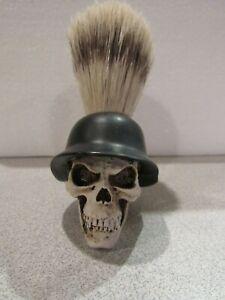 Biker Custom Shaving Brush SKULL Design Barber Shop Shave NEW Collectible!