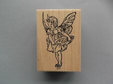 100 PROOF PRESS RUBBER STAMPS RIGHT WEB FAIRY NEW wood STAMP