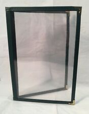 """47 Leatherette Green Vinyl Edge & Spine 2 Page 4 View Menu Covers 8-1/2"""" x 5-1/2"""