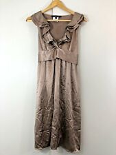 VERY VERY Size 10 Womens Coffee Champagne Summer Cocktail Party Dress