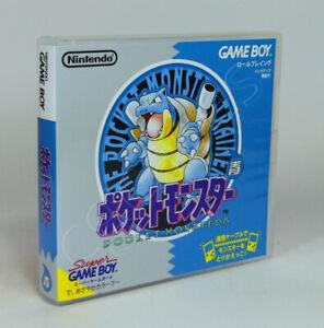 Game Boy GB Game CASE ONLY - Pocket Monsters Pokemon Blue (JAP)