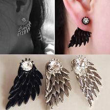Fashion Women Angel Wings Rhinestone Gothic Punk Earrings Ear Stud Jewelry Gifts