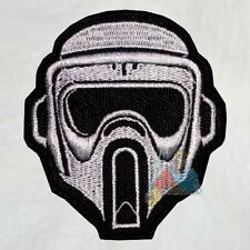 Scout Trooper Helmet Embroidered Patch Star Wars Stormtrooper Clone Empire Vader