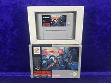 *Snes SUPER CASTLEVANIA IV 4 Boxed (NI) Genuine PAL UK Version