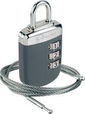 Go Travel 3 Dial Combinación Cerradura de enlace con Cable De Seguridad De Acero (ref 891)