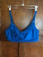 Athleta 38 B-C Twist Blue Underwire Women's  Swim Bikini Top