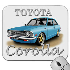 TOYOTA COROLLA  KE20  COUPE  MOUSE PAD  ( 7  CAR COLOURS )