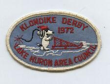 1972 Boy Scout Patch Gulf Klondike Derby Lake Huron Area Council