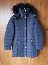 RRP £200 TOMMY HILFIGER WINTER COAT Navy Puffer Jacket Quilted Parka XXS UK 4-6