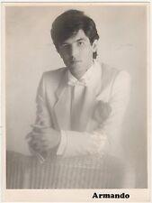 ARMANDO Fotografía Promocional 1980s Original Foto 23x18cm cantante español