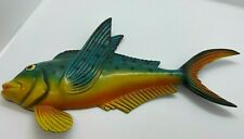 Fish Wall Plaque Mid Century Modern Mcm Cabin Rustic Lake House Nautical Decor