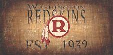 "Washington Redskins Retro Throwback Established 1932 Wood Sign Wall NEW 12"" x 6"""