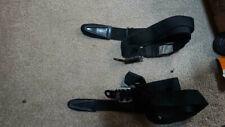 Seat belt straps x 2 Porsche / vw in black old used vintage