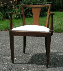 Armlehnstuhl um 1900 Holz-Schreibtischstuhl antik Bauhaus Gründerzeit/Jugendstil