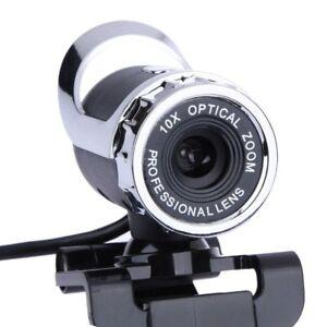 Webcam Usb High Definition Camera 360 Degree Mic Clip-on Skype Computer 640x480