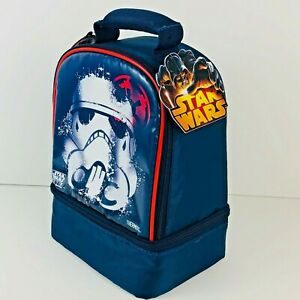 Thermos Insulated Lunch Bag Box Kit Star Wars Rebels Storm Trooper Dual Space