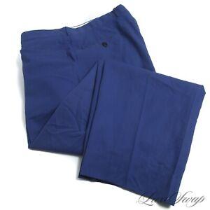 BIG GUYS Brioni Sport Made Italy INTENSE Rich Blue Lightweight Poplin Pants 42