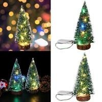 Tabletop Artificial Small Mini Christmas Tree With Lights LED Ornaments M1X7