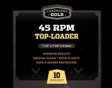 Case / 100 CBG Hard Plastic 45RPM Record Single Topload Holders rigid protectors