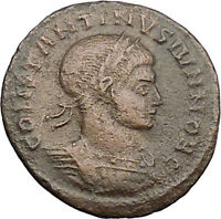 Constantine II  Constantine the Great  son Ancient Roman Coin Wreath i30974