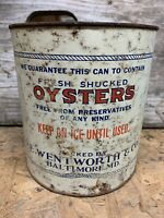 Oyster Can Tin Gal Wentworth Co Baltimore MD