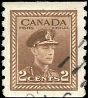 1948 Used Canada F-VF Scott #279 2c Coil War Issue Stamp