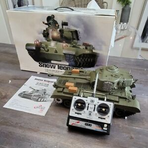HENGLONG SQS SNOW LEOPARD 1/16 REMOTE CONTROL BATTLE TANK USED PARTS OR REPAIR