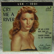 "JULIE LONDON ""Cry me a River"" 1956 JAZZ VOCAL 45 rpm EP Liberty VG LSX-1001"