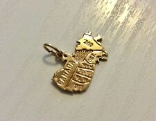 Lovely Vintage Stamped Solid 10 KT Gold Map of Canada Pendant or Charm 10 Carat