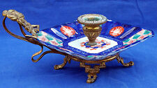 Fine 19th century French brass and Imari porcelain chamberstick circa 1870