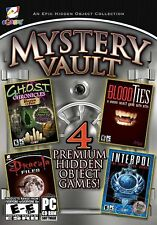 DRACULA FILES Hidden Object MYSTERY VAULT  4 PACK PC Game NEW