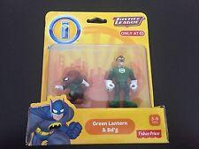 Fisher Price Imaginext DC Super Friends GREEN LANTERN & BD'G figure NEW