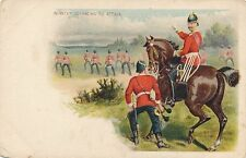 POSTCARD   MILITARY   Infantry  advancing to  attack
