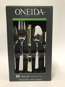 Oneida 20 Piece Service for  4 Stainless Flatware Set New!